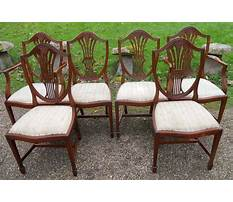 Antique bench chairs with backs Plan