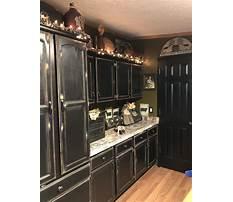 Antique black kitchen cabinets Plan