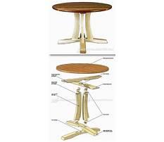 Antique pedestal table Plan