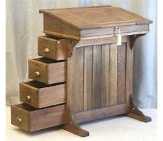 Antique writing desk with drawers Plan