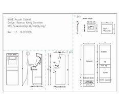 Arcade cabinet plans download Plan