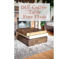 Arts crafts coffee table easy and simple to build Plan