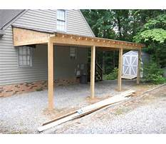 Attached carport design plans Plan