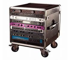 Audio racks with casters Plan