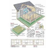 Back porch construction plans Plan