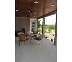 Back porch wood ceilings Plan