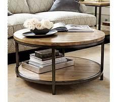 Ballard design round coffee table Plan