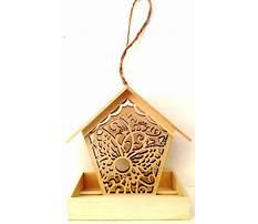 Balsa wood bird feeder Plan
