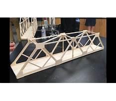 Balsa wood bridge projects Plan