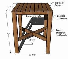 Bar table plans free Plan