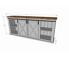 Barn door entertainment cabinets Plan