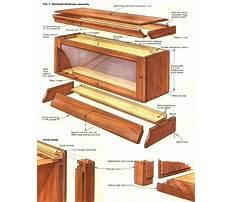 Barrister bookcase knob Plan
