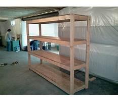 Basement shelves design Plan