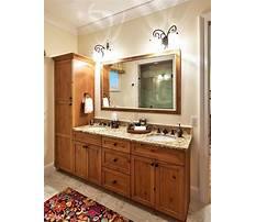 Bathroom vanity with linen cabinet Plan