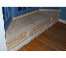 Bay window benches with storage plans Plan