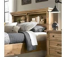 Bed designs with headboard storage Plan