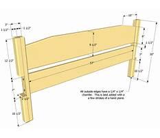 Bed headboard woodworking plans.aspx Plan