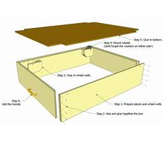 Bed plans drawers underneath Plan