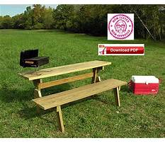Bench picnic table combo plans Plan