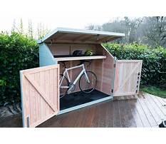 Bike storage shed diy Plan