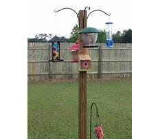 Bird house feeder pole Plan