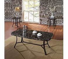 Black faux marble coffee and end tables Plan