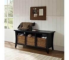 Black storage bench wood Plan