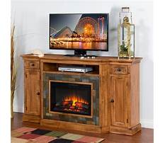 Black tv stand with electric fireplace Plan