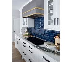 Blue kitchen flooring tile Plan