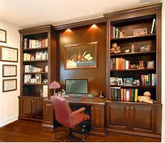 Bookcase and desk wall unit Plan