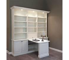 Bookcase desk wall unit Plan