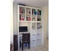 Bookcase desk wall unit white Plan