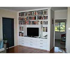 Bookcase desk wall units Plan