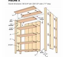 Bookcase shelf dimensions Plan