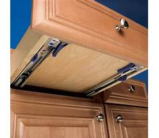 Bottom drawer slides cabinet Plan