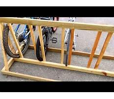 Build a bicycle rack wood Plan