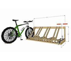 Build a bike rack from wood Plan
