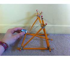 Build a catapult with pencils Plan