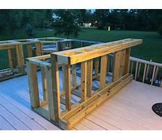 Build a outdoor patio bar Plan
