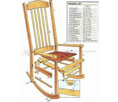 Build a wooden rocking chair Plan