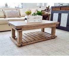 Build coffee table Plan