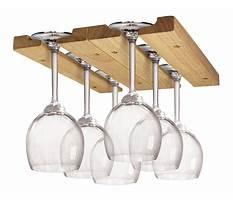 Build overhead wine glass rack Plan