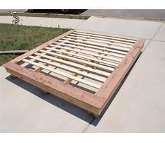 Build queen bed platform Plan