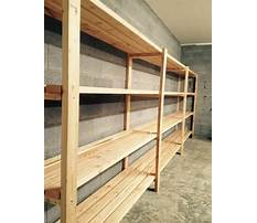 Build sturdy garage shelving Plan