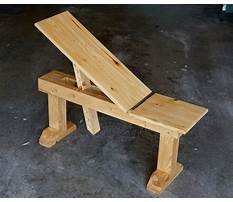Build wooden bench press Plan