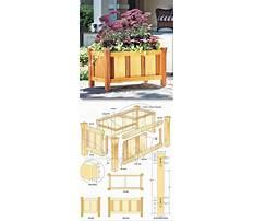 Build wooden planter box plans Plan