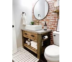Build your own bathroom vanity table Plan