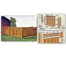 Building a fence with cedar posts Plan