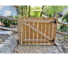 Building a garden gate door Plan