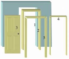 Building a interior door frame Plan